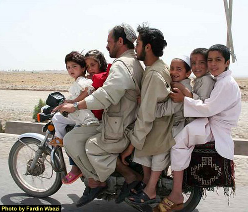 Family-on-motorcycle-Herat